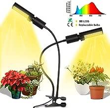 Grow Light, Full Spectrum LED Grow Light for Indoor Plants, Grow Lamp with Dual Flexible Gooseneck & Replaceable Bulb W-88795645