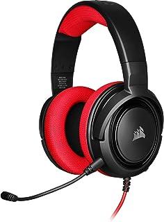 Corsair HS35 Stereo Gaming Headset (Custom 50 mm Neodymium Speakers, Detachable Unidirectional Microphone, Lightweight Bui...