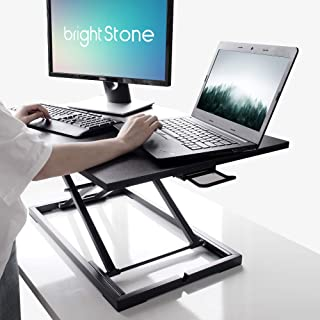 Standing Desk,Big Height Adjustable Standing Desk Converter, 20.1×31.5 Inch Work Area, Fully Assembled (Black)