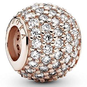 Pandora Jewelry Pave Lights Cubic Zirconia Charm in Pandora Rose