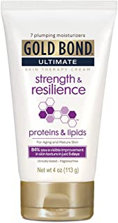 Gold Bond Ultimate Cream Strength and Resilience, 4 Ounce Body Lotion for Aging Skin, Helps Skin Look Smooth