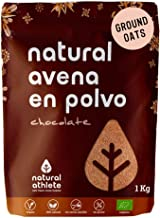 Harina de Avena Sabor Chocolate Natural Athlete, Sin Azúcar, Sin Aditivos, Sin Gluten -1KG