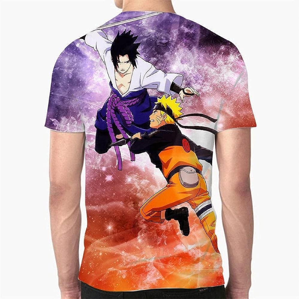 Dibujos Animados Naruto Uchiha Sasuke Camiseta Hombres Anime ...