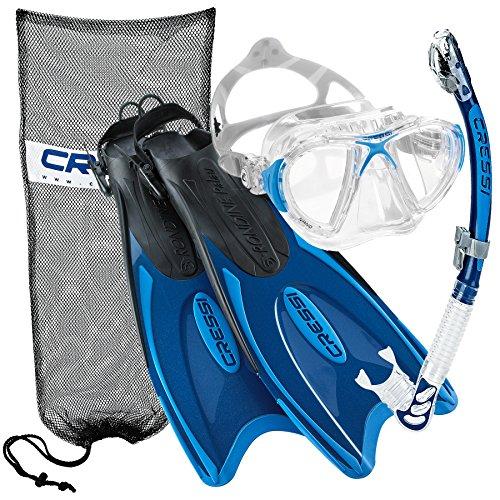 Cressi Nano Crystal Snorkel Set