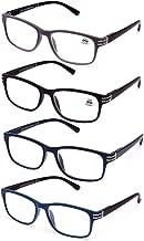 Gafas de Lectura Sin Montura Vista Cansada Presbicia Ver de Cerca Unisex con Montura de Pasta Graduadas Dioptr/ías +1.00 hasta +4.00 +2.0, pack de 6 colores Bisagras Standard Para Leer