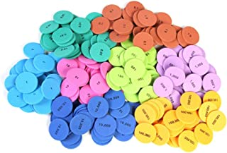 hand2mind Foam Place Value Disks, 8 Values (Pack of 200)