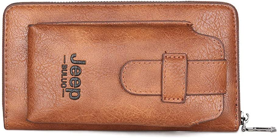 Sacramento Mall Long Phone Leather Wallet Men Card Man Holder Purse Mobile Max 54% OFF Coin