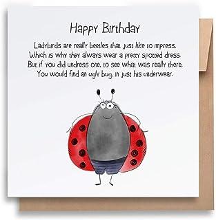 Ladybirds Are Really Beetles -Children's Birthday Card with Envelope, Kid's Birthday Card Funny Birthday Card Humorous Bir...