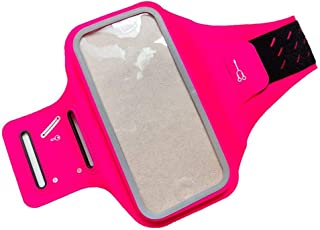 DFV mobile - Professional Cover Chinlon-Lycra Ultra-thin Armband Sport Walking Running Fitness Cycling Gym for Vivo iQOO Neo 855 (2019) - Pink