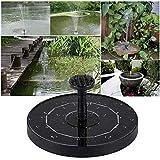 Bomba solar de fuente Ewendy, 1,5 W, para jardín, terraza, estanque, piscina y exterior, altura de agua de 30 – 50 cm, con 4 boquillas diferentes
