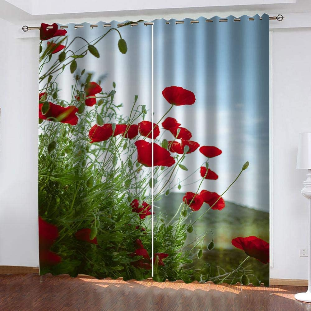 Thermal Insulated Grommet Curtains,Rose Popular brand Import Garden Ther Window for
