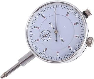 TOOGOO Comparateur-amplificateur 0-10mm Compteur precis Resolution de 0.01 Test de concentricite