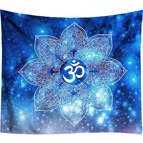 N / A Tapices Coloridos para Colgar en la Pared, Tapiz de Mandala Indio, Tapiz Hippie Chakra, decoración Boho, paño de Pared A8 95X73CM