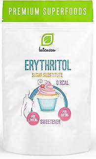 Intenson Erythritol Paquet 1 x 1000g - Édulcorant - Substitut de Sucre - Érythritol - Érythrol - Moins de Calories - Pour ...