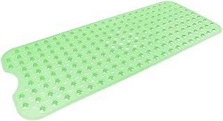 DII Anti-Slip Non Slip Allergen-Free Extra-Long Mildew Resistent Vinyl Shower, Bathtub Mat 15.75x39 with Safety Grip Sucti...