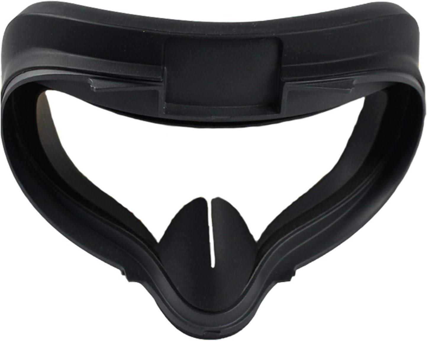 CALIDAKA VR Silicone Cove-r for Oculu-s Quest 2, Washable VR Eye Pad Protecting Cove-r Cushion for Oculu-s Quest 2,Sweatproof Anti Sweat