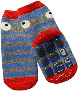 Weri Spezials - Pantofole unisex per bambini e bambini in ABS, antiscivolo, colore: Grigio/Rosso