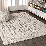 [PET-FRIENDLY AND DURABLE]: Durable enough for high-traffic areas, this soft and comfortable area rug is perfect for families with kids. Low-pile synthetic rug fibers won't trap dirt and debris, so they're pet-friendly and easy to clean. Our trendset...