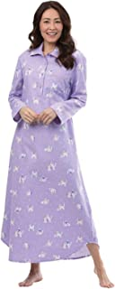 Women's Cotton Flannel Nightgown - Long Flannel Nightgowns for Women