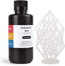 ELEGOO ABS-Like 3D Printer Rapid Resin LCD UV-Curing Resin 405nm Standard Photopolymer Resin for LCD 3D Printing 500Gram Translucent