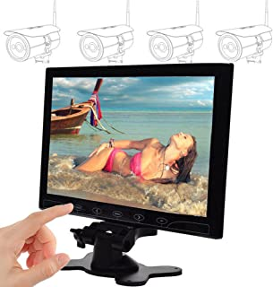 SallyBest 10.1 Inch Ultra Thin 16:9 HD 1024600 Color TFT LCD Display Headrest Monitor Touch Button Monitor Screen with AV ...