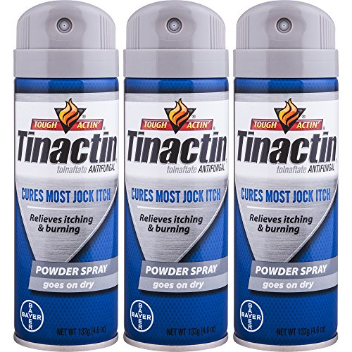 Tinactin Jock Itch Spray Powder,4.6 oz. (Pack of 3)