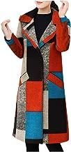 Dainzuy Women's Wool Blend Long Coats Lapel Long Sleeve Cashmere Pea Coat Trench Jacket Outwear with Pockets