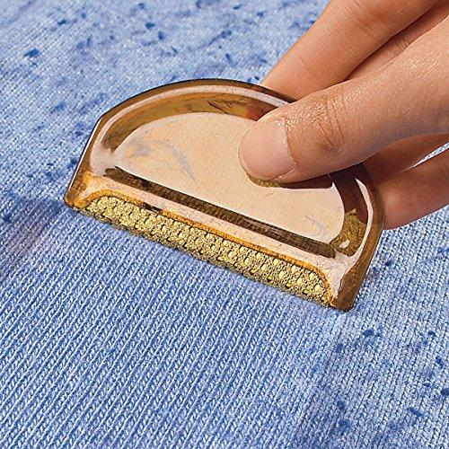 TRI Flusen-Ex, 2 Stück Flusenentferner Pilling Fusseln Flusenkamm Fusselrasierer Kleidung
