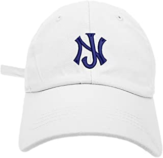 half off 84733 b02e6 TheMonsta New Jersey Logo Style Dad Hat Washed Cotton Polo Baseball Cap