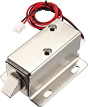 uxcell DC 12V 0.6A 11.4mm Electromagnetic Solenoid Lock Assembly for Electirc Lock Cabinet Door Lock