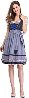 Women German Dirndl Dress Costumes for Bavarian Oktoberfest Halloween Carnival