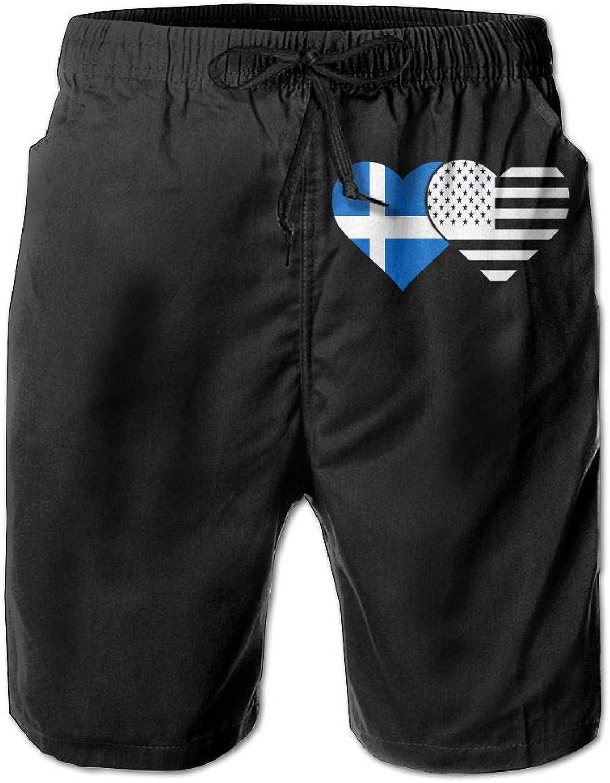 b7ef792a7b411e SESY Men's 3D Printing Shetland Flag American Flag Flag Flag Beach Shorts  Casual Shorts 890946