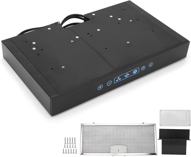Fydun Campana extractora de cocina de 12V 3 velocidades ajustables con luz LED de pantalla táctil para RV Camper Kitchen