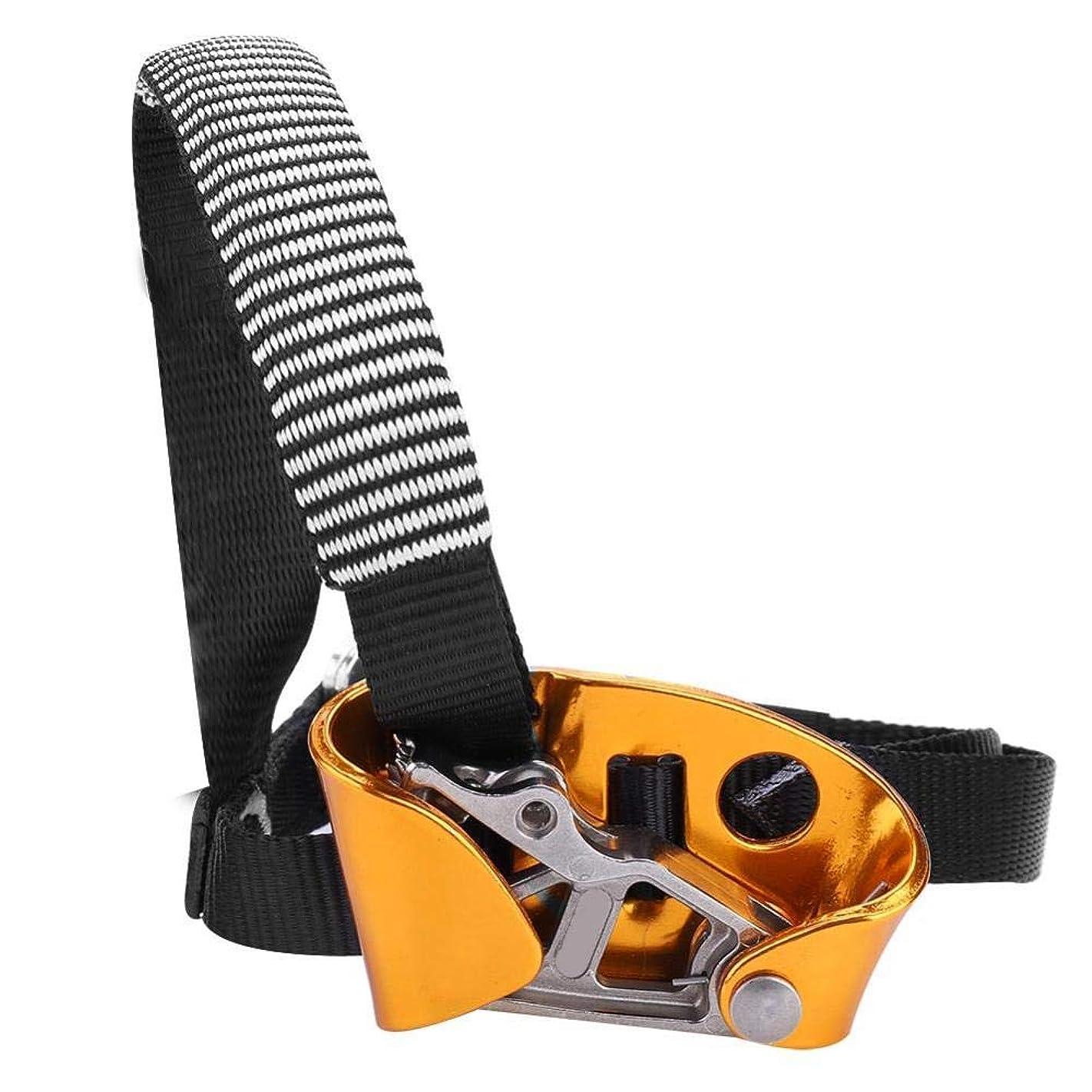 マイク無謀選ぶフット?アセンダ アッセンダー 左足 右足 8-13mmロープ用 足アセンダ 滑り止め 懸垂下降 クライミング 登山装備 安全保護