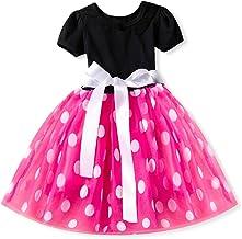 Inlefen Vestido de Fiesta de Princesa de la Flor Vestido de Bautizo de Dama de Honor de la Boda de Tul Regalo de cumpleaños niñas