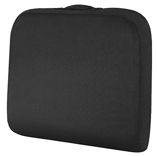 SHINNWA Seat Cushion for Office Chair, Wheelchair Seat Cushion Pad Memory Foam Extra Large Thick Chair Cushion for Truck Drivers Relieving Back Tailbone Pain (19 X 17 X 3 inches)