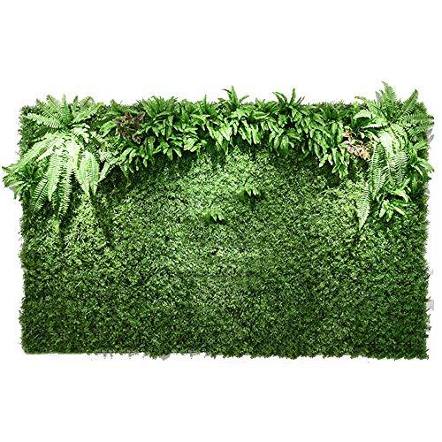 Mur de fleurs LVZAIXI Artificielles Decor Hedge Plants Panneaux De Haie UV Privacy Fence Fausses Feuilles Bureau De Mariage De Fête (Color : B, Size : 100x100cm)