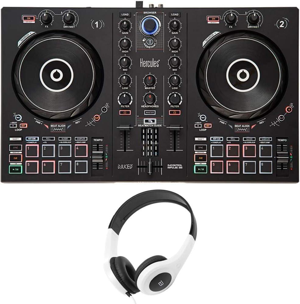 HERCULES AMS-DJC-INPULSE-200 Max 78% OFF DJControl Inpulse 2-Channel DJ 300 Challenge the lowest price