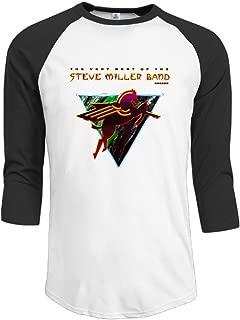 Steve Miller Band Book Of Dreams Top 3/4 Sleeve Plain Raglan Tee Shirt