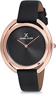Daniel Klein Womens Quartz Watch, Analog Display and Leather Strap DK12197-3