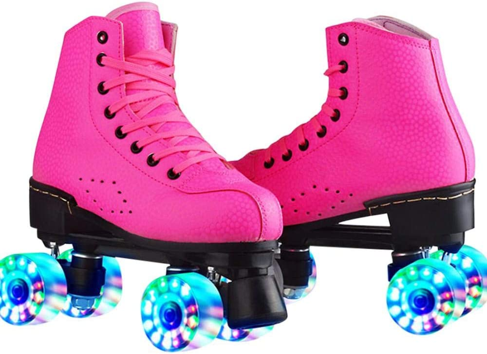 XUDREZ Opening large release sale Roller Skates for Leather Raleigh Mall PU Women High-top