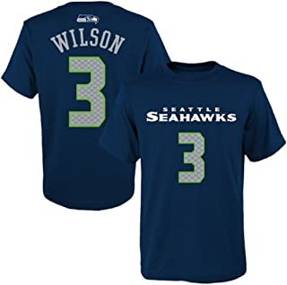 Outerstuff Russell Wilson Seattle Seahawks #3 NFL Youth Performance Mainliner Name & Number T-Shirt Jersey