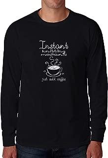 インスタントニットのメカニックはコーヒー2を追加するだけロングスリーブTシャツ