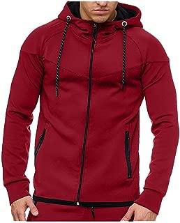 Mens Hoodies Beautyfine Casual Long Sleeve Autumn Winter Sweatshirt Top Blouse Tracksuits