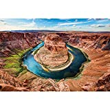 GREAT ART Mural De Pared ? Curva De Herradura ? Gran Cañón Estados Unidos Horseshoe Bend Landscape América Arizona Nature Colorado River Papel Tapiz Y Decoración 210 x 140 cm