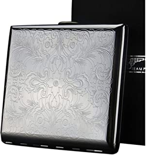 KYK Cigarette Case, 20 Pack, Personalized Creative Gift, Men's Cigarette Case, Metal Cigarette Case (Color : Silver)
