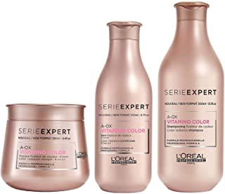 LOREAL VITAMINO COLOR SHAMPOO, CONDITIONER AND MASK 300ml