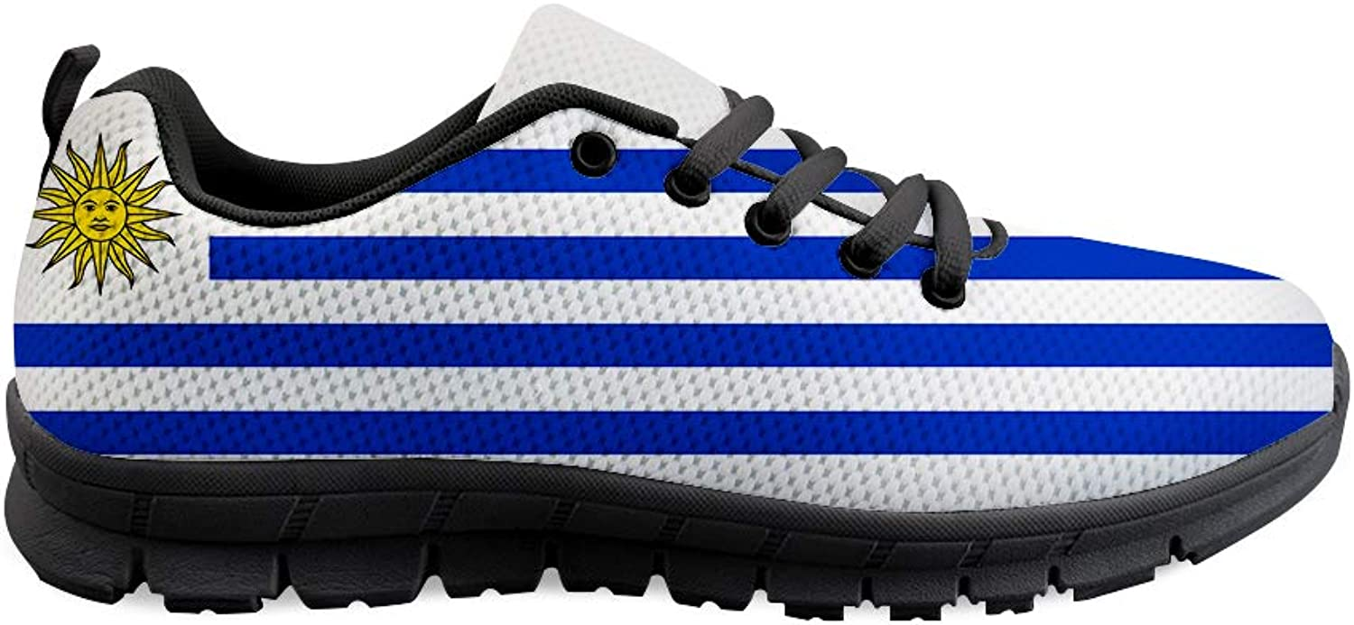 Owaheson Lace-up Sneaker Training shoes Mens Womens Uruguay Flag