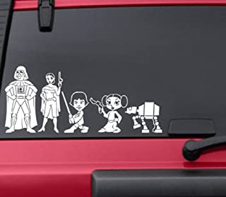 HVD-Star Wars Stick Figure Family Car Window Vinyl Decals