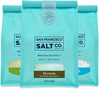 Therapeutic Luxury Bag Bundle - Detox Soak, Muscle Soak, Harmony Foaming Bath Salts (2 lb. bag of each) by San Francisco Salt Company